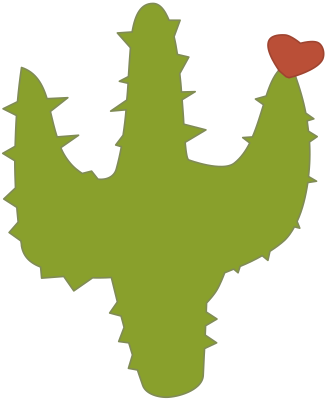 Cactus with Heart - Colour