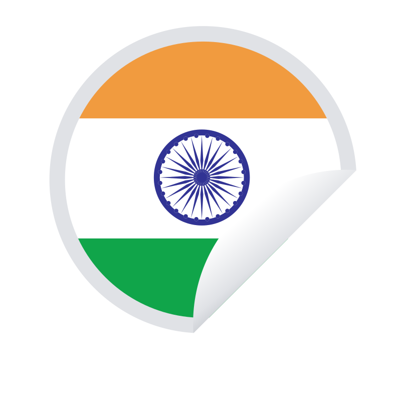 Indian national flag sticker