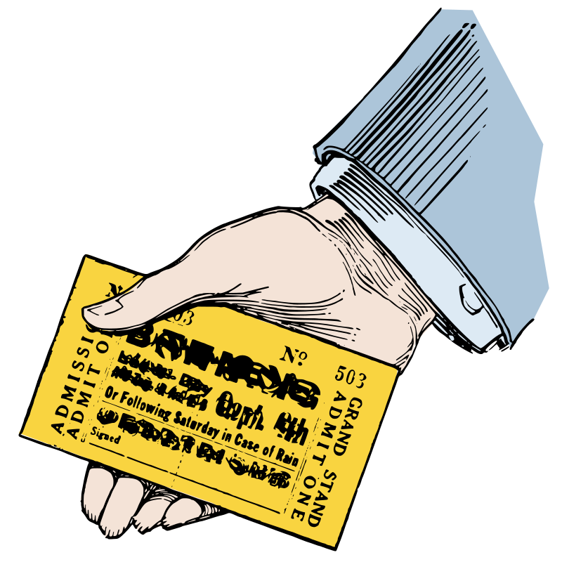 Hand with a Ticket