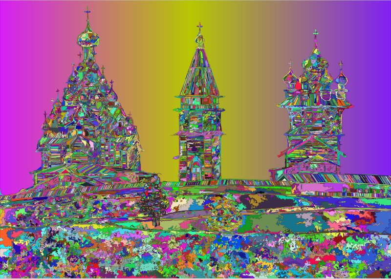 Kizhi Temple Russia By Victoria Borodinova Surreal