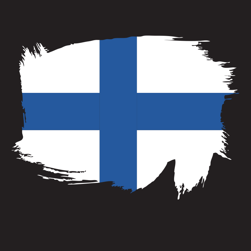 Painted flag of Finland