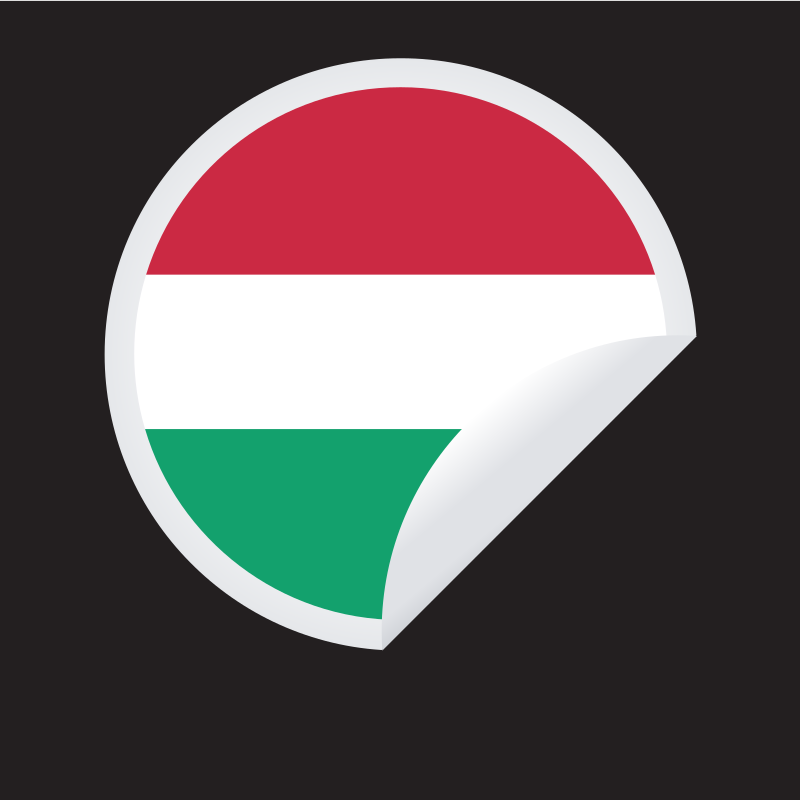 Hungarian flag sticker