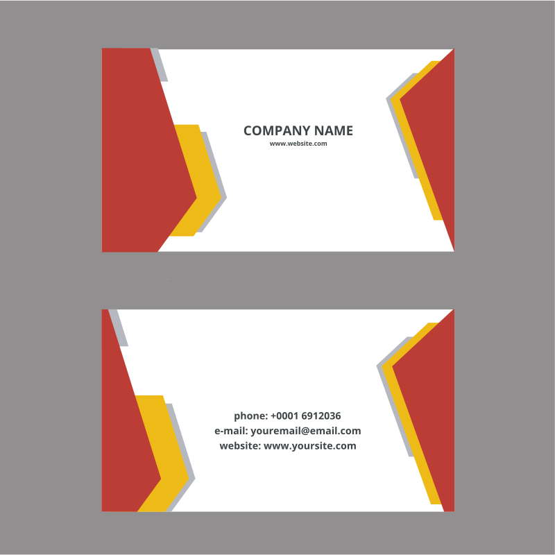 Business card svg template