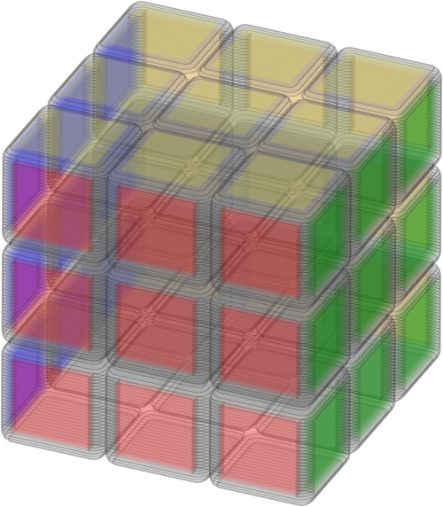 Animated Rubik's Cube