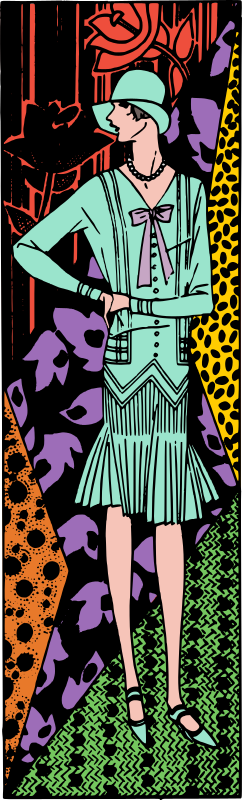 Retro Lady with Random Patterns - Colour Remix