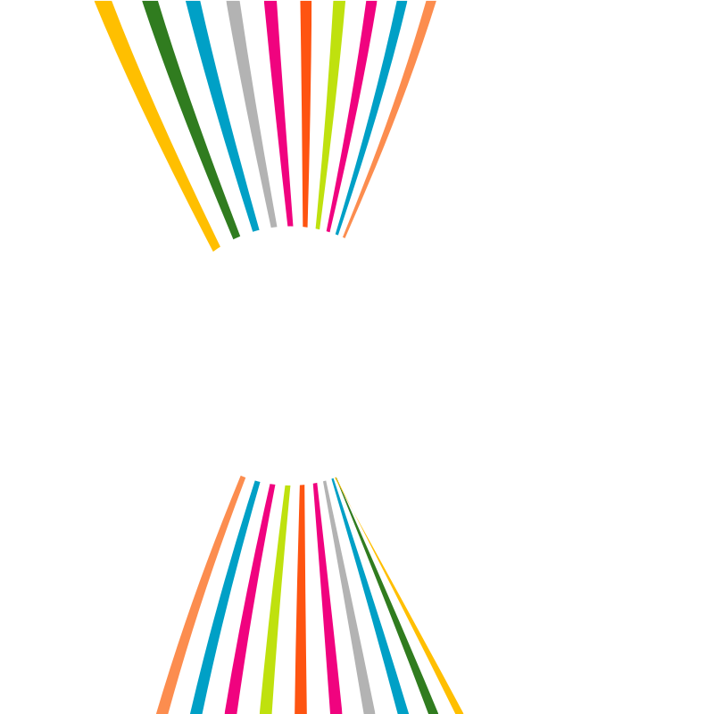 Coloured lines white circle