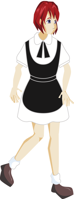 Lady in a Maid Costume
