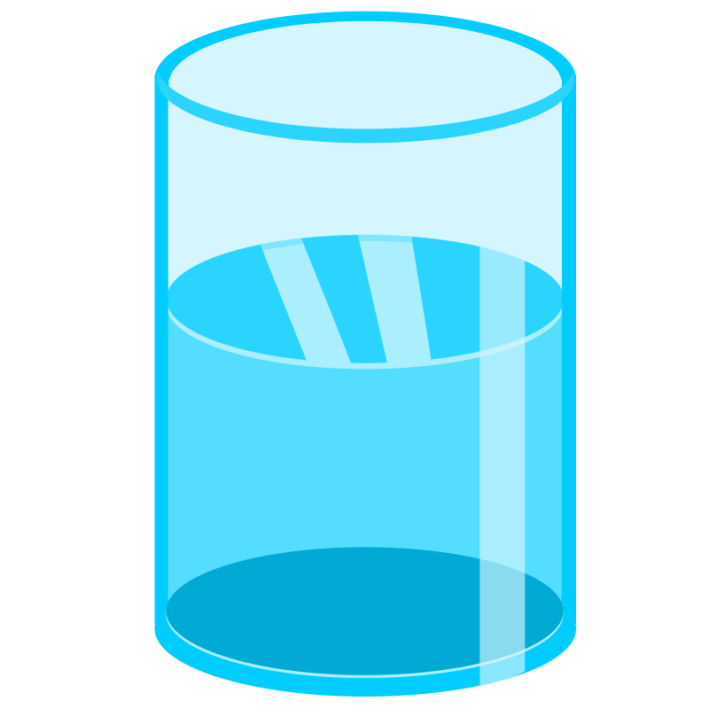 Glass of water (half)