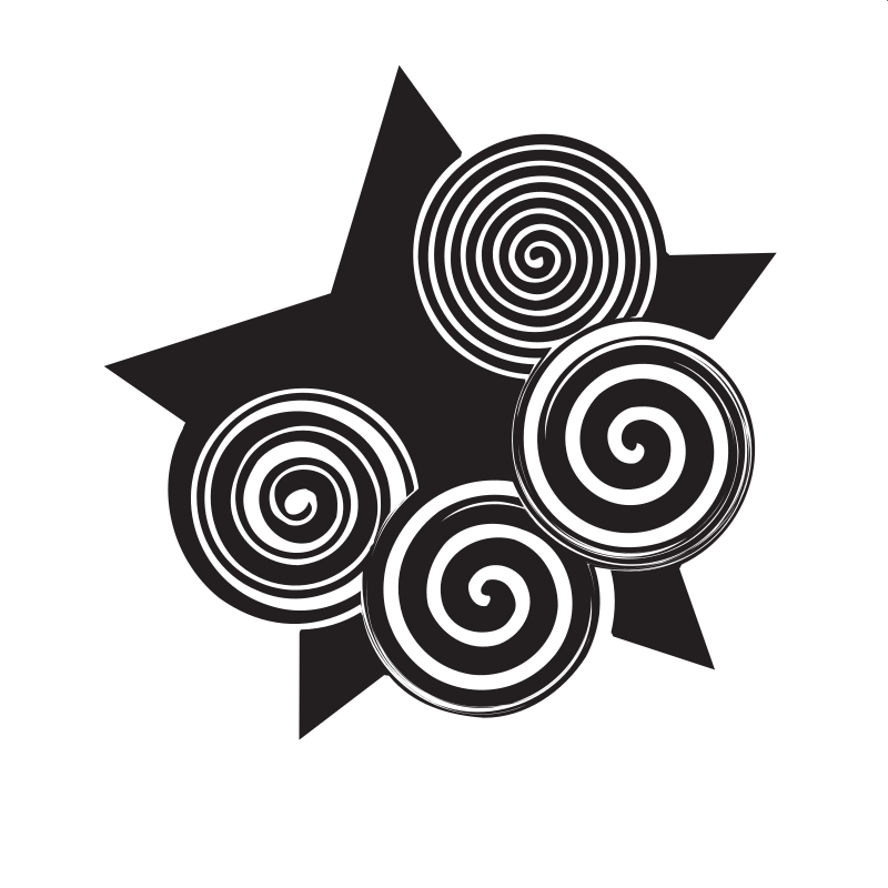Black star decoration