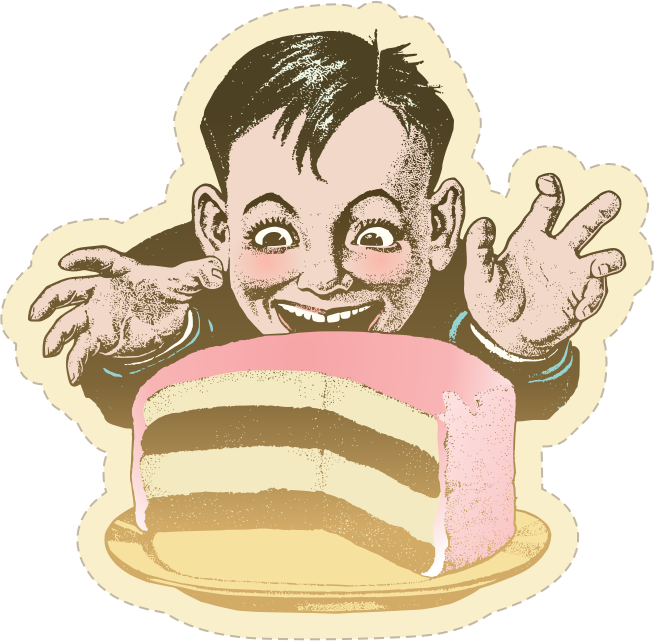 Kid and Cake - The Sticker