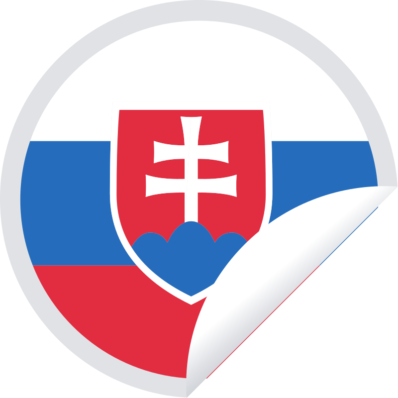 Slovakia flag in a round sticker