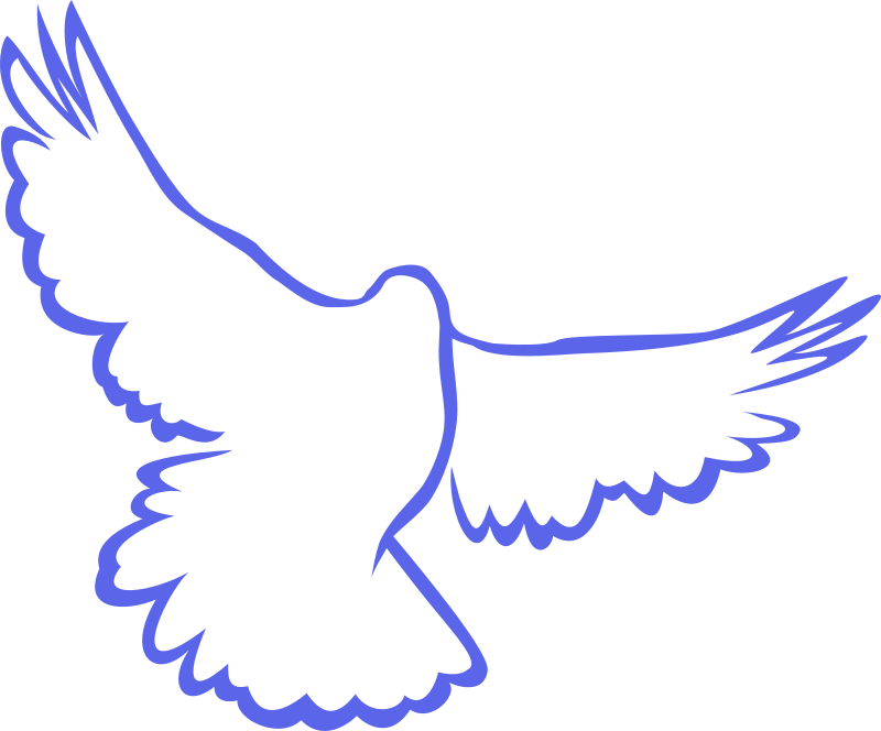 Flying dove, stylized