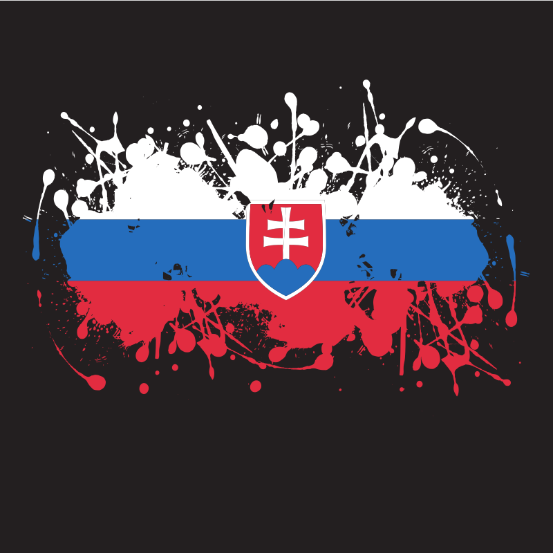 Slovakian flag ink blot