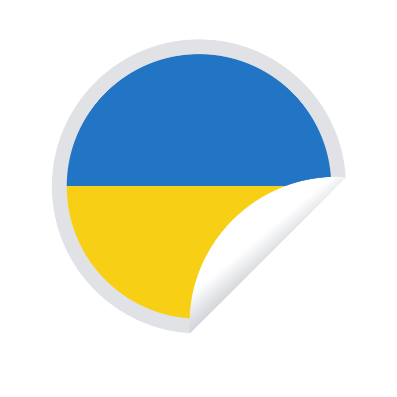 Ukrainian flag sticker symbol