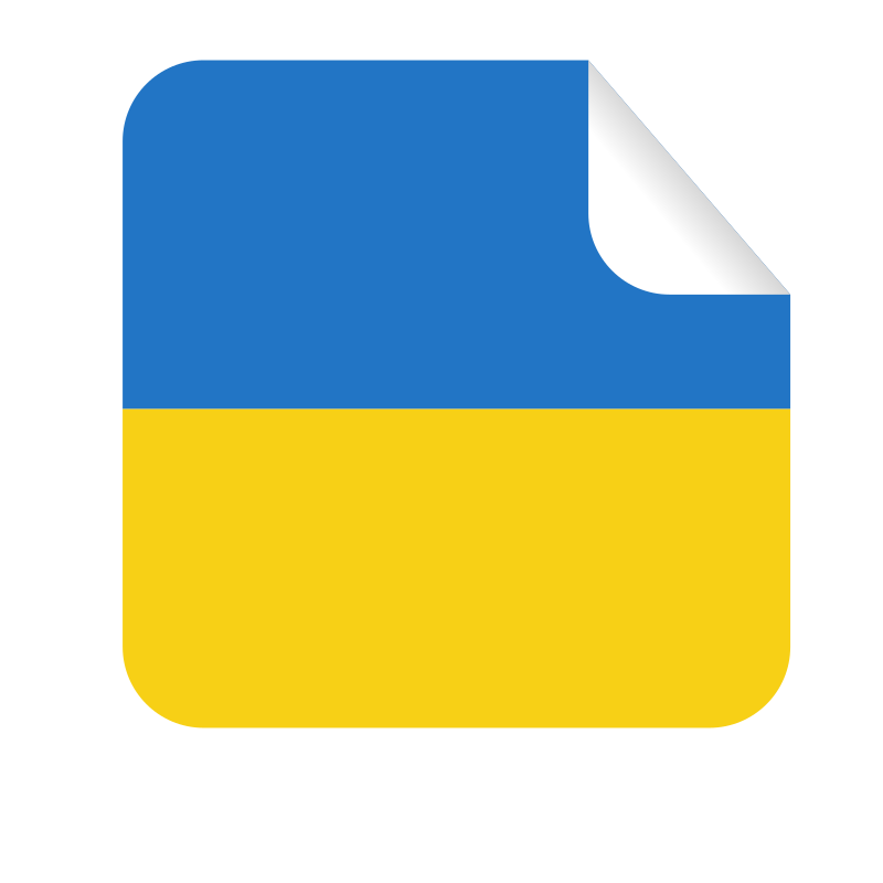 Ukrainian flag sticker