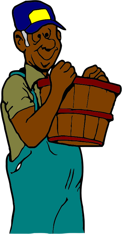 farmer with basket (dark skin vers)