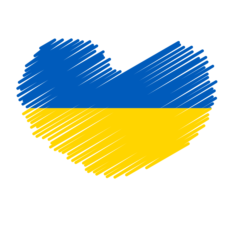 Ukraine flag heart symbol
