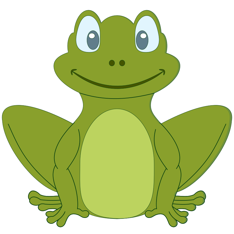 Simple Cartoon Frog