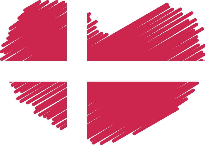 Danish flag heart