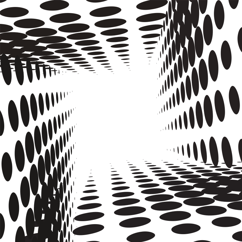 Halftone pattern tunnel