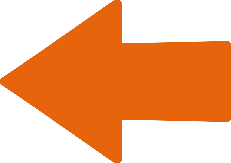 Straight Orange Arrow