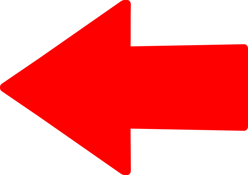 Straight Red Arrow Left