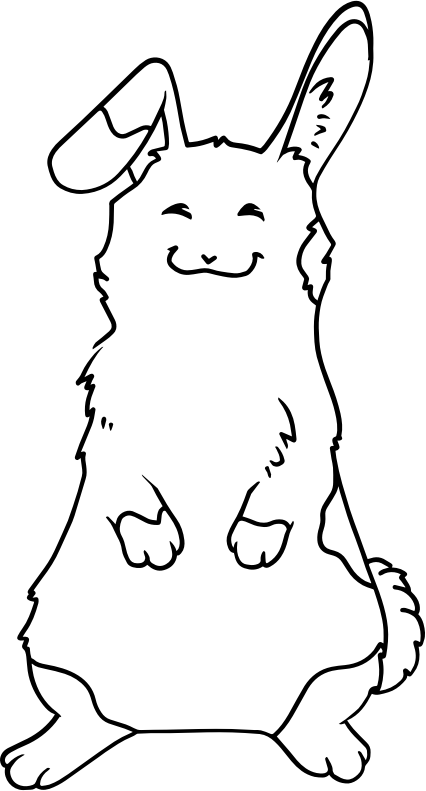 cute happy rabbit