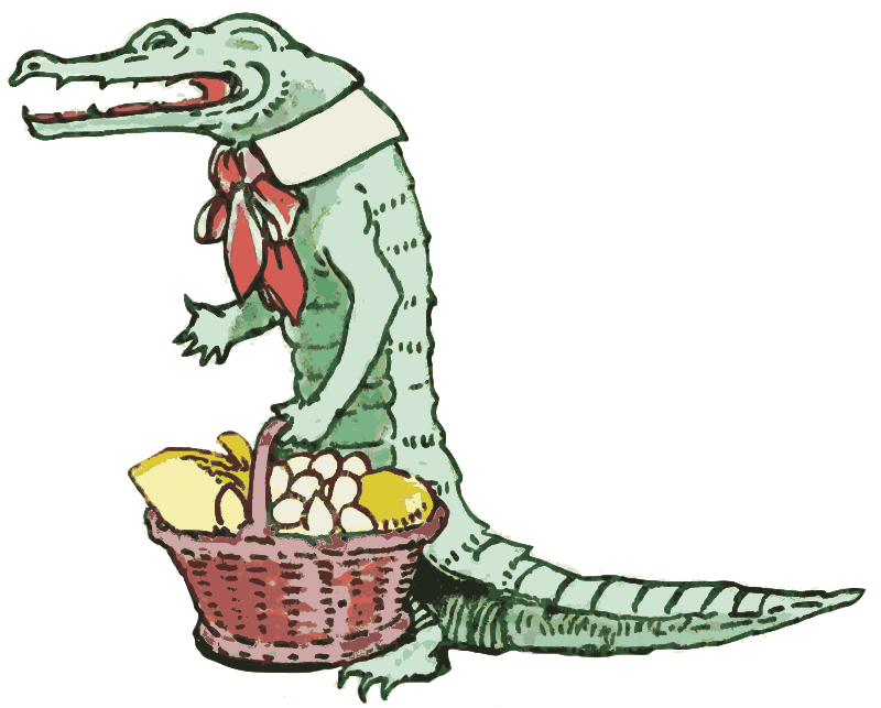 Aligator with a Basket