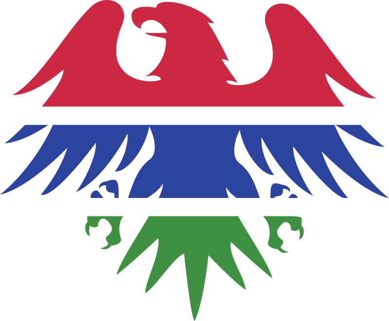 Gambian flag eagle emblem