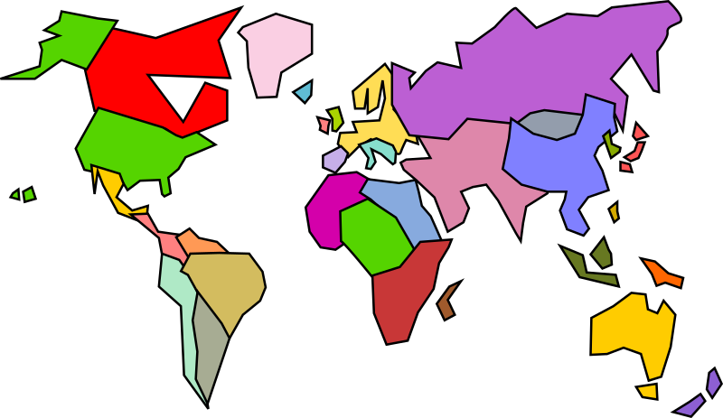 Abstract Inaccurate World Map