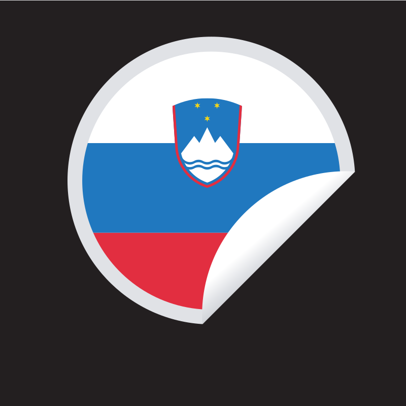 Slovenian flag sticker symbol