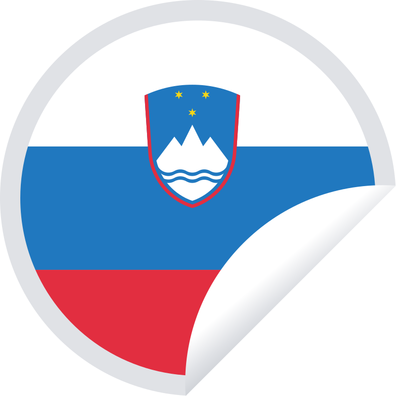 Slovenian flag sticker