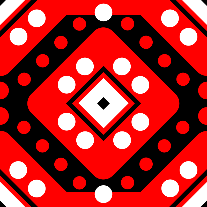 Red White Black Circles Squares MMXXI