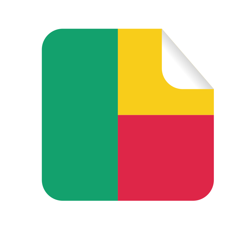 Benin flag sticker