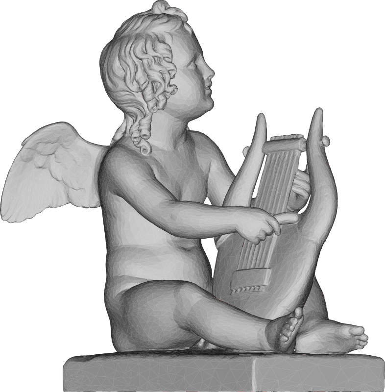 Cupid Playing Lyre 3D