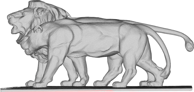 Lion And Lioness 3D