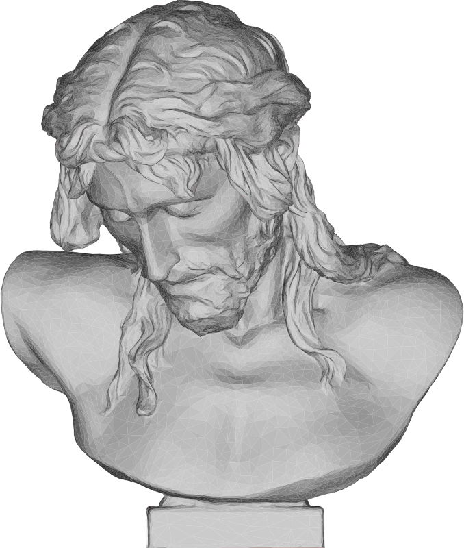 Donatello's Christ Bust 3D