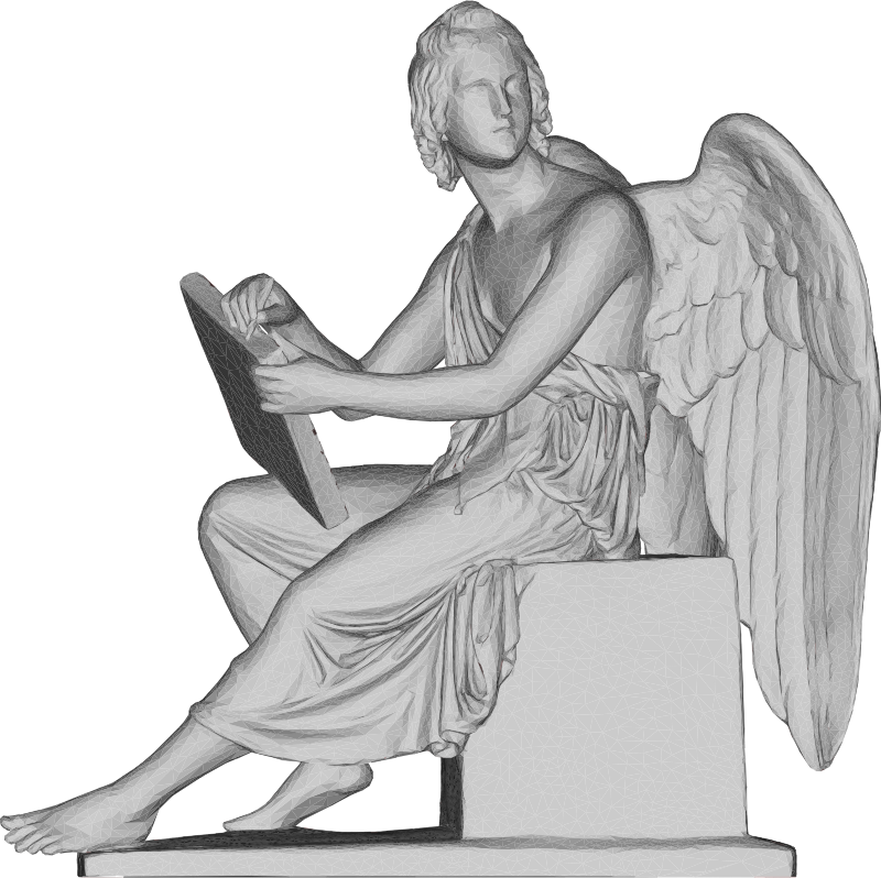 Angel And Stone Tablet 3D