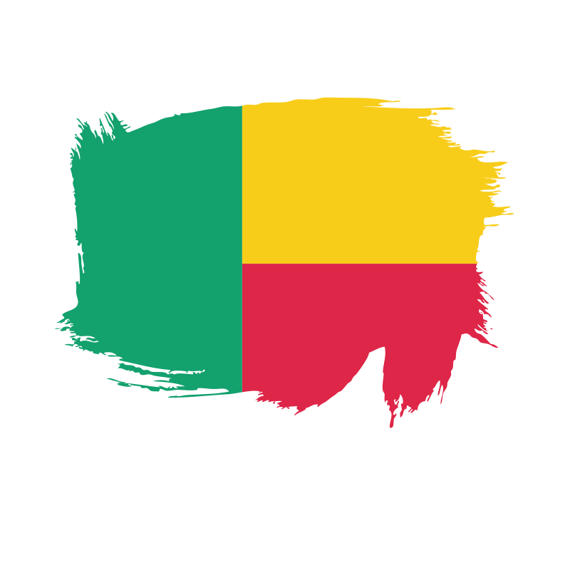 Benin painted flag