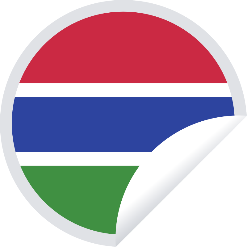 Gambia flag round sticker
