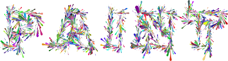 Paint Splatter Typography Colorful
