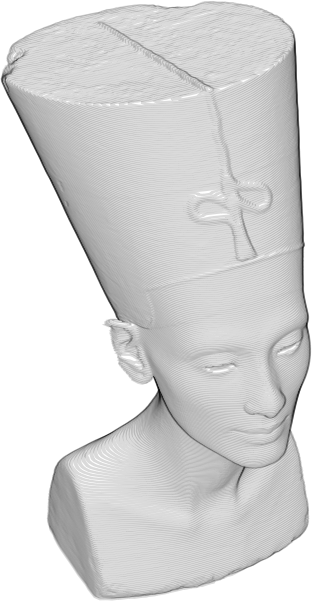 Animated Nefertiti Bust