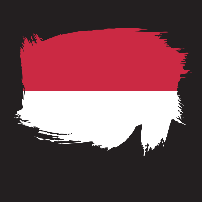 Painted flag of Indonesia
