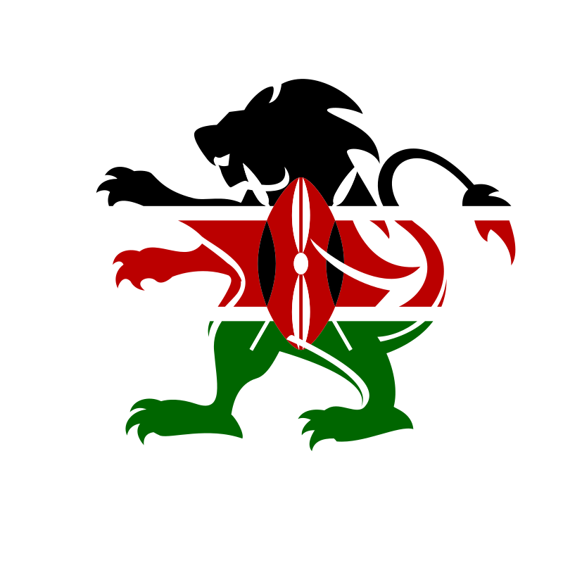 Kenya flag lion emblem