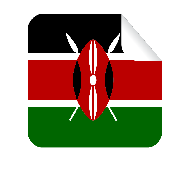 Kenyan flag square sticker