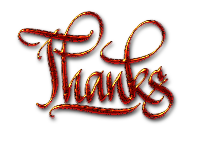 Thanks, textured digital calligraphy