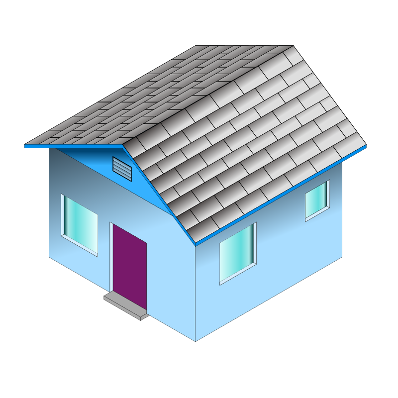 Small Blue House