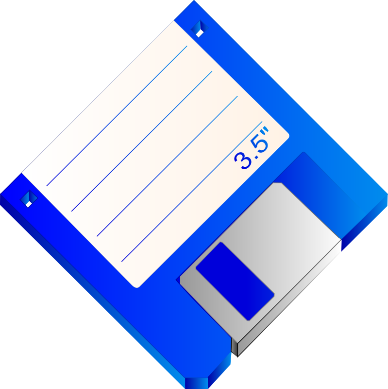 3.5 Floppy Disk Blue Labelled
