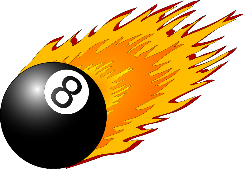 8ball with flames