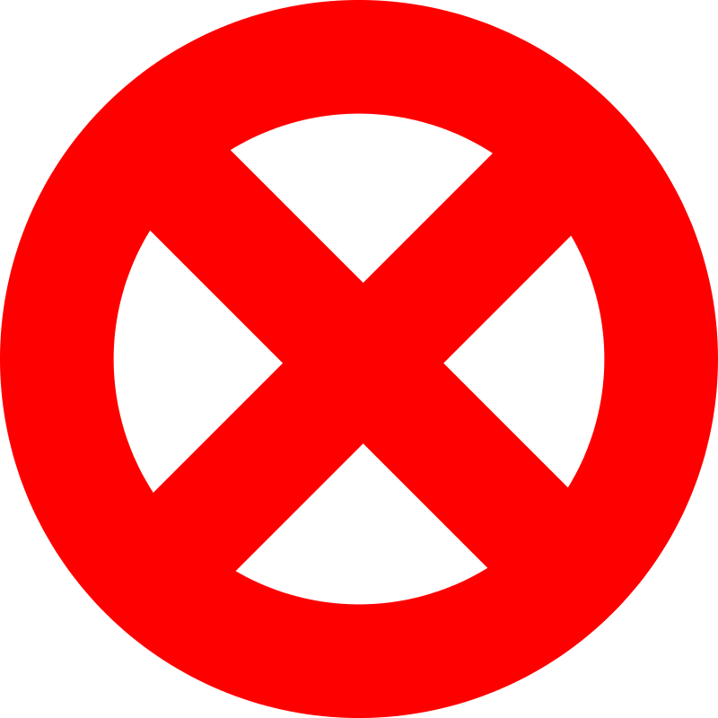 Prohibited Sign - Forbidden Sign - Abort